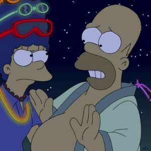 Die Simpsons am Burning Man