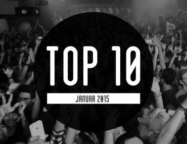 Top 10 für Januar - Most Charted Tracks