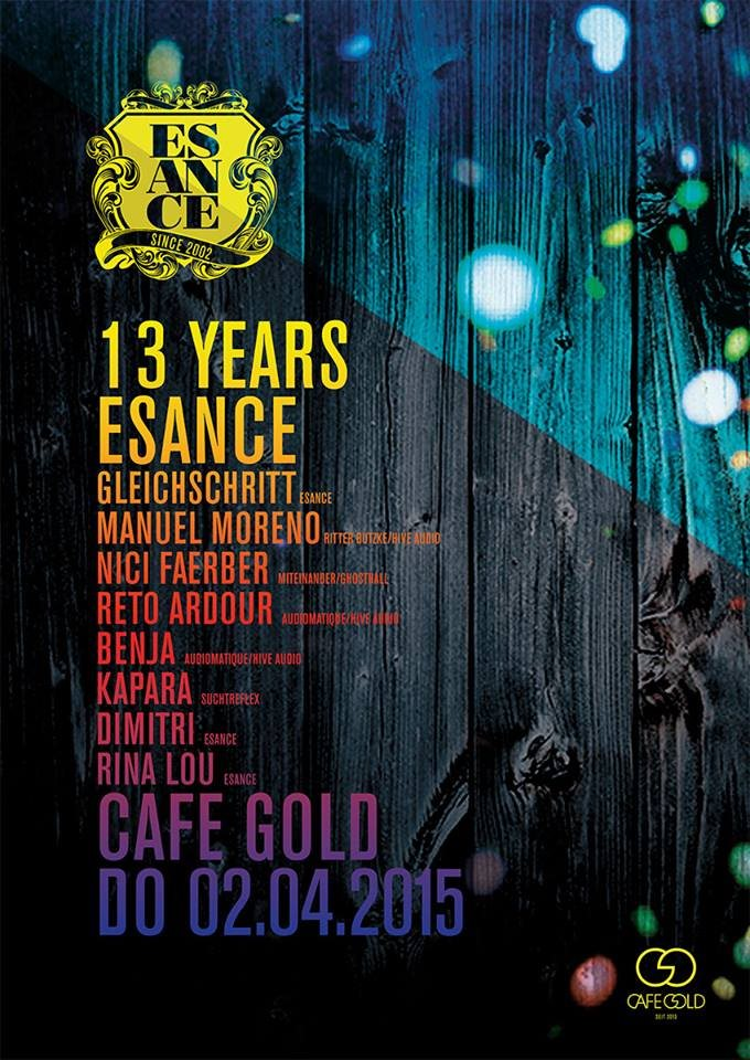 13 Years Esance Flyer