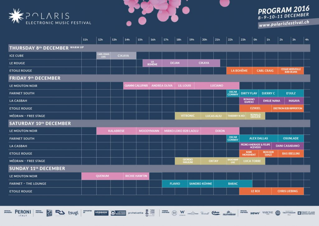 Polaris Festival Timetable