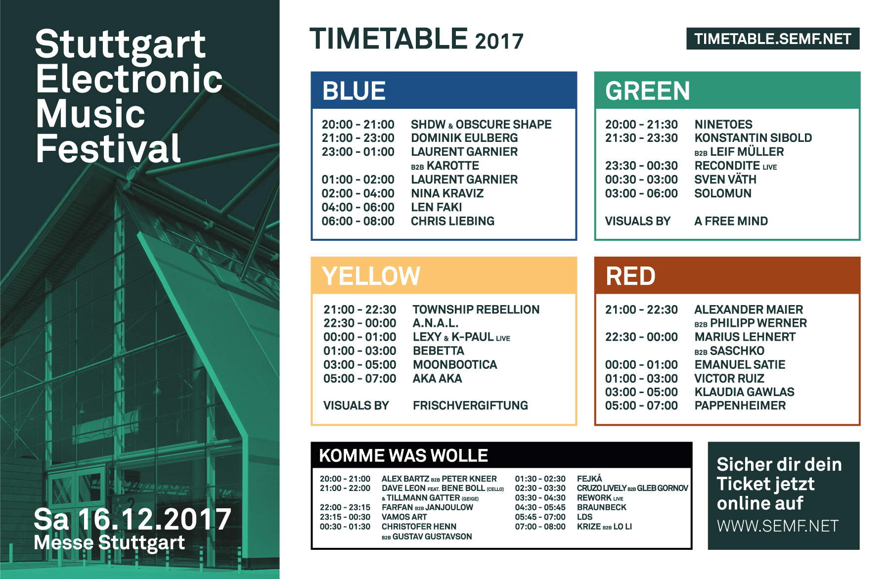 SEMF 2017 Timetable