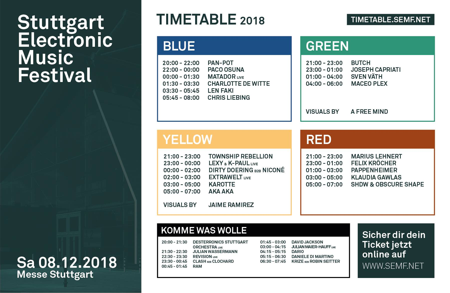 Timetable SEMF 2018